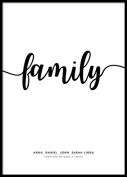 Family Personal Poster in the group Prints / Personalised prints at Desenio AB (pp0020)