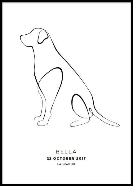 My Dog Personal Poster in the group Prints / Personalised prints at Desenio AB (pp0029)