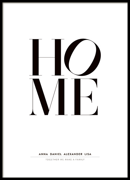Home Personal Poster in the group Prints / Personalised prints at Desenio AB (pp0044)