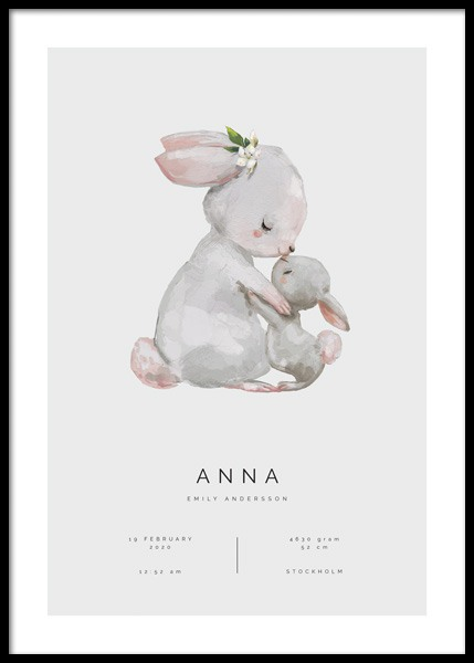 Good Morning Little One Personal Poster in the group Prints / Personalised prints at Desenio AB (pp0049)
