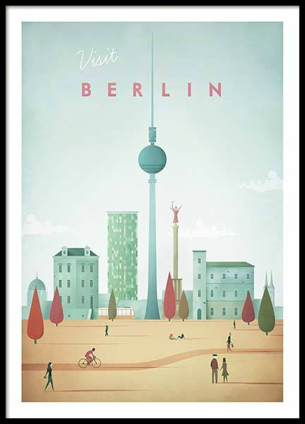 Berlin Travel Poster in the group Prints at Desenio AB (pre0007)