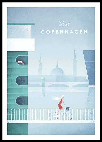 Copenhagen Travel Poster in the group Prints / Sizes / 50x70cm | 20x28 at Desenio AB (pre0009)