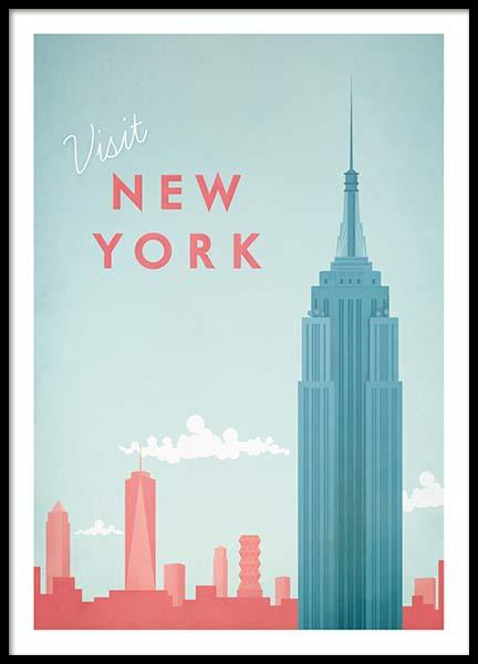 New York Travel Poster in the group Prints / Retro & vintage at Desenio AB (pre0011)