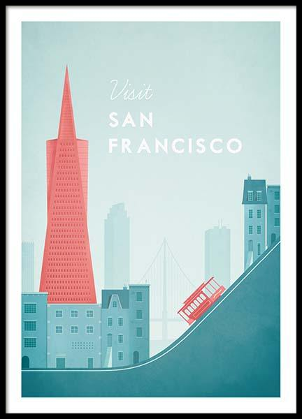 San Francisco Travel Poster in the group Prints at Desenio AB (pre0014)