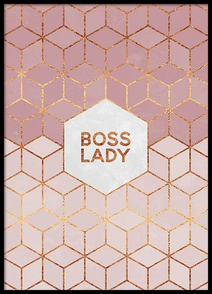 Boss Lady Poster in the group Prints / Graphical at Desenio AB (pre0015)