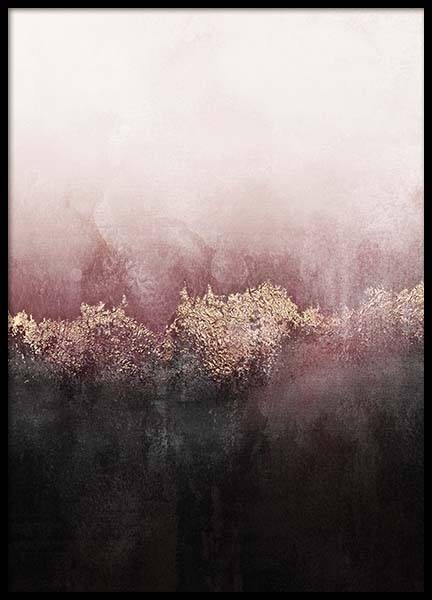 Pink Sky Poster in the group Prints / Art prints / Abstract art at Desenio AB (pre0017)