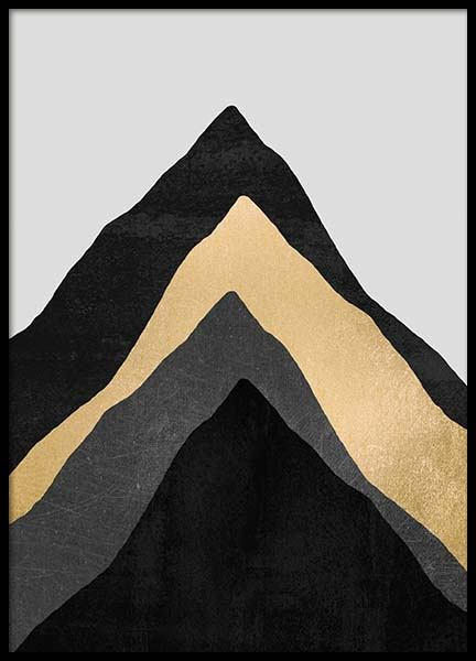 Four Mountains Poster in the group Prints / Graphical at Desenio AB (pre0022)