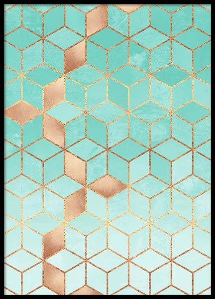 Soft Gradient Aquamarine Poster in the group Prints / Graphical at Desenio AB (pre0034)