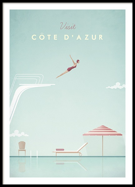 Cote d'Azur Poster in the group Prints / Vintage at Desenio AB (pre0038)