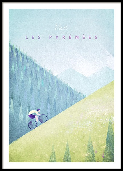 Les Pyrenees Poster in the group Prints / Vintage at Desenio AB (pre0039)