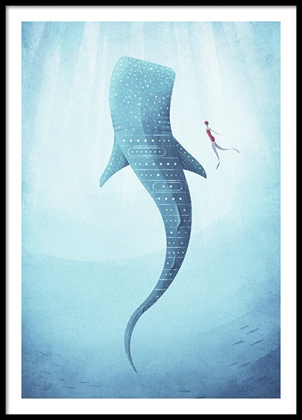 Whale Shark Poster in the group Prints / Vintage at Desenio AB (pre0040)