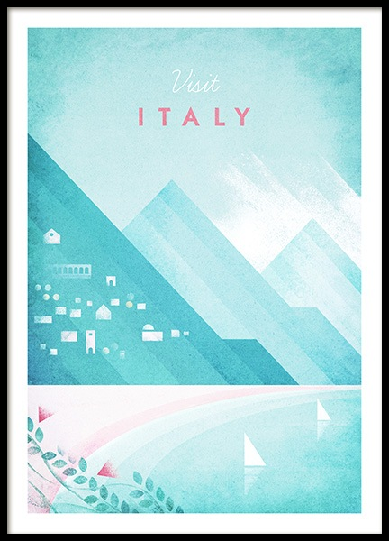Visit Italy Poster in the group Prints / Retro & vintage at Desenio AB (pre0042)