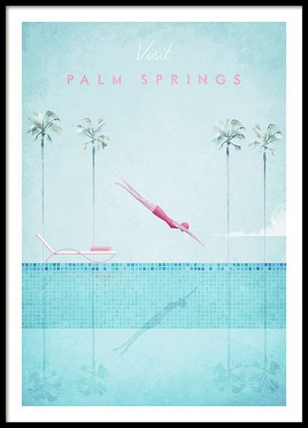 Visit Palm Springs Poster in the group Prints / Retro & vintage at Desenio AB (pre0043)