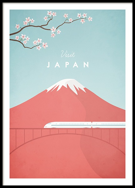 Visit Japan Poster in the group Prints / Handpicked / Henry Rivers at Desenio AB (pre0049)