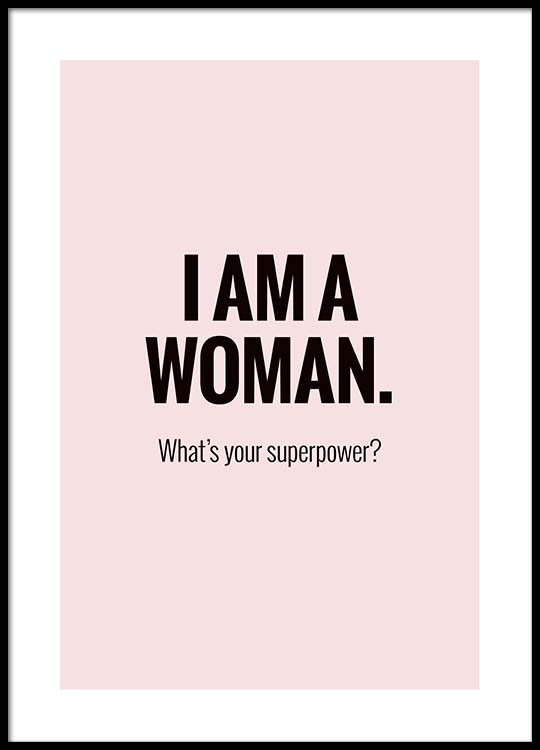 i m a woman poster