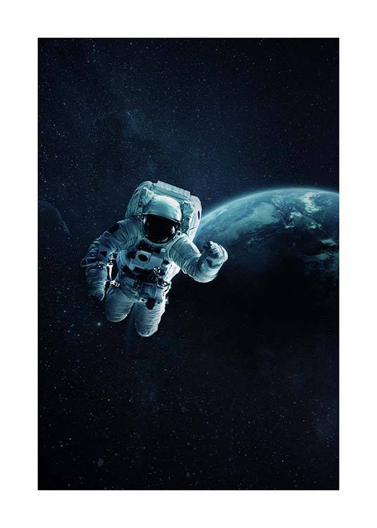 Astronaut In Space Poster / Kids wall art at Desenio AB (10118)