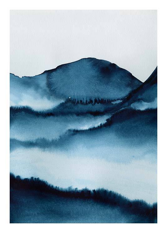 Watercolor Mountains Poster / Art prints at Desenio AB (10124)