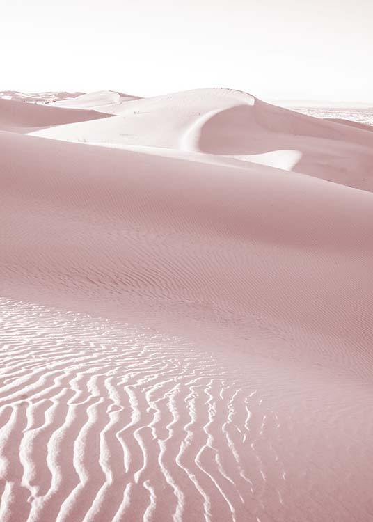 - Modern photo of a pink sand dune in the Sahara.