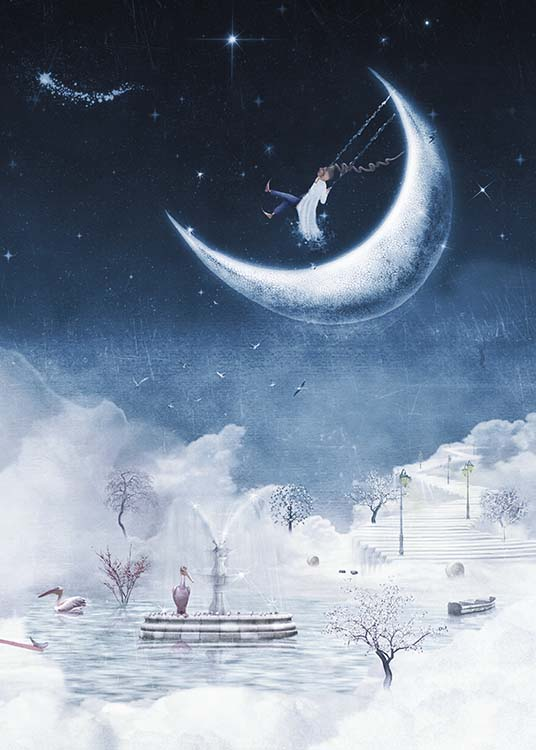 Foggy Winter Night Poster / Kids wall art at Desenio AB (10277)