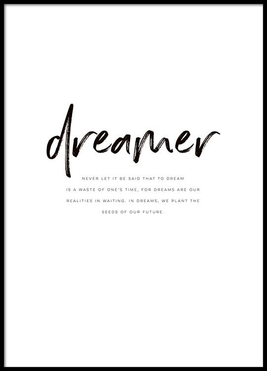 dreamer quote poster