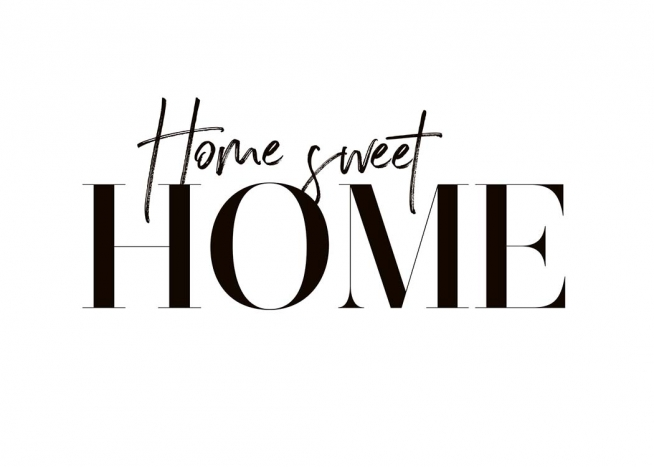 Sweet Home Poster Home Sweet Home Desenio Co Uk