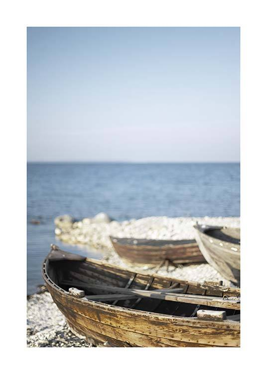 Wooden Boats Poster / Nature prints at Desenio AB (10476)
