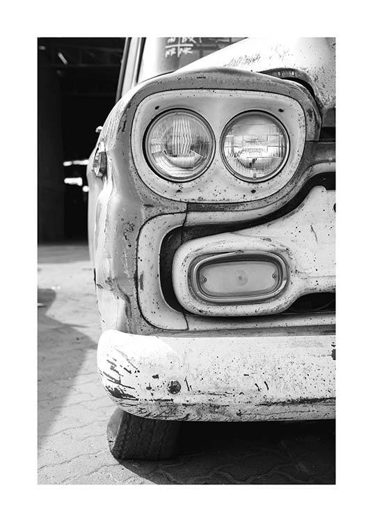 Old Car Poster / Black & white at Desenio AB (10550)