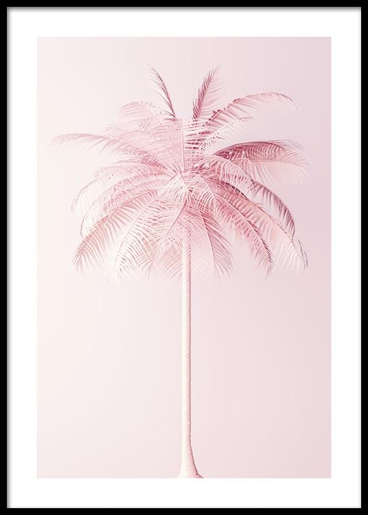 pastel pink palm poster
