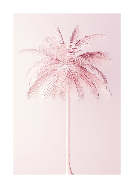 Pastel Pink Palm Poster / Botanical at Desenio AB (10635)