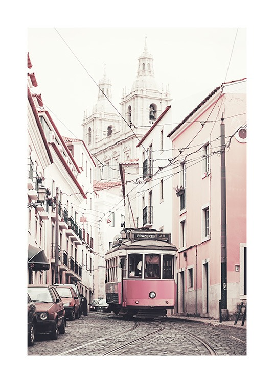 Pink Tram Poster