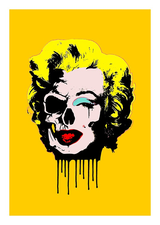 Skull Marilyn Poster / Graphical at Desenio AB (10712)
