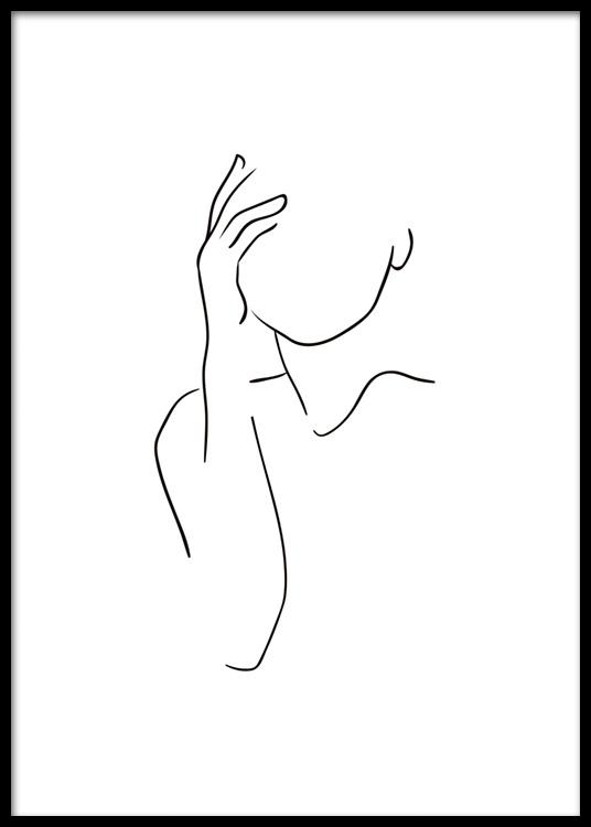 Shoulder Line Art Poster