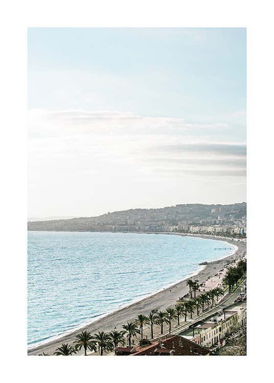 Beach View in Nice Poster / Nature prints at Desenio AB (10897)