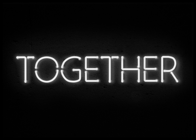 together neon poster