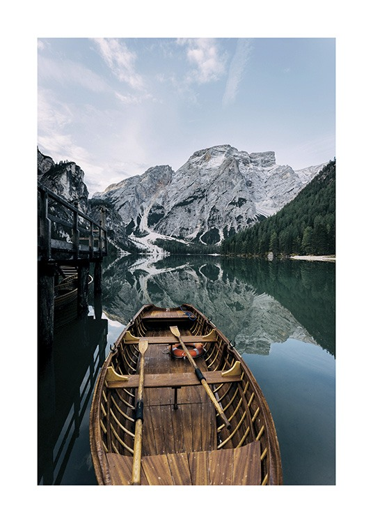 Boat in a Lake Poster / Nature prints at Desenio AB (11109)
