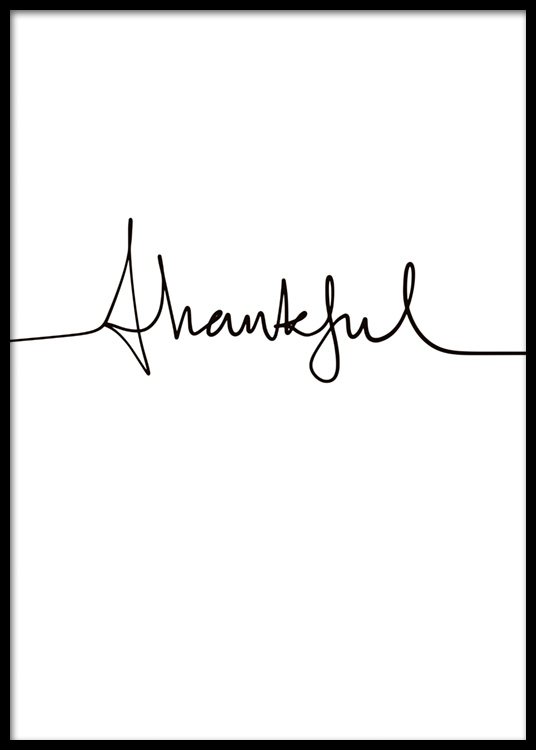 thankful handwriting poster