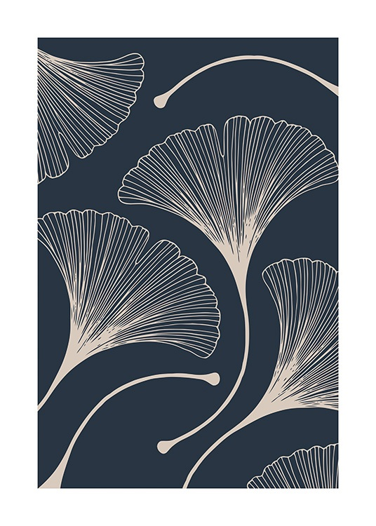 Ginkgo Leaves Poster / Botanical at Desenio AB (11282)