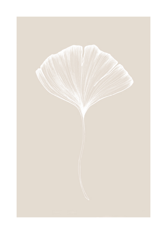 Ginkgo Beige No2 Poster / Botanical at Desenio AB (11284)