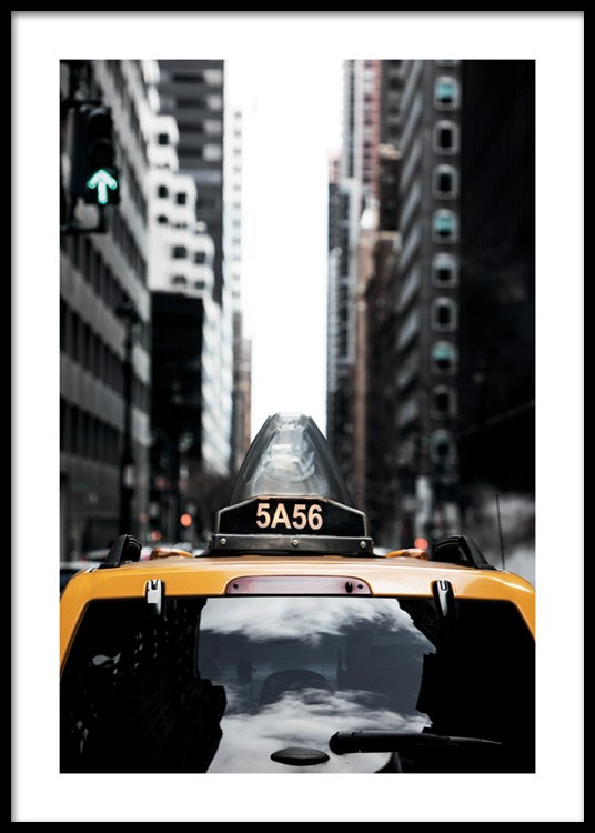 Poster New York Taxi.Nyc Taxi Poster