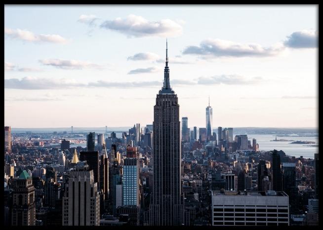 new york skyline poster. Black Bedroom Furniture Sets. Home Design Ideas
