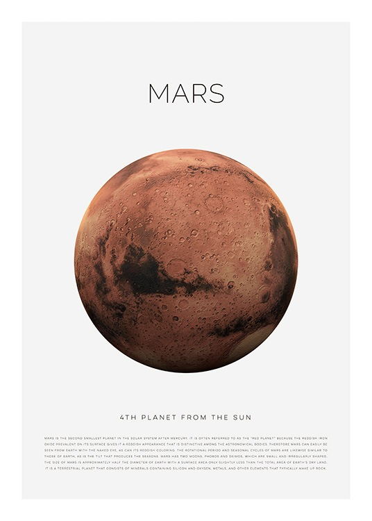 Planet Mars Poster / Kids wall art at Desenio AB (11438)