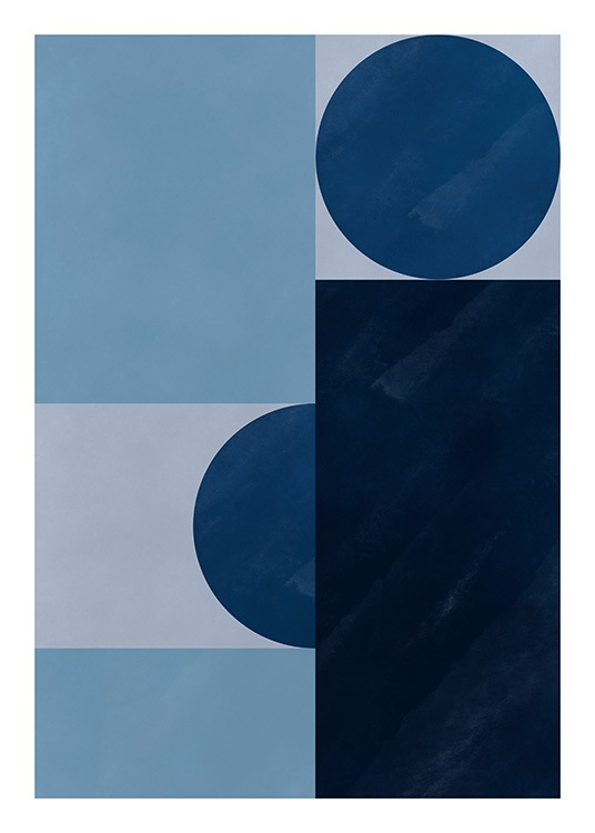 Blue Harmony Poster / Art prints at Desenio AB (11482)