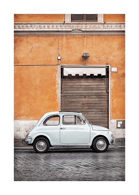 Vintage Car in Rome Poster / Photographs at Desenio AB (11574)