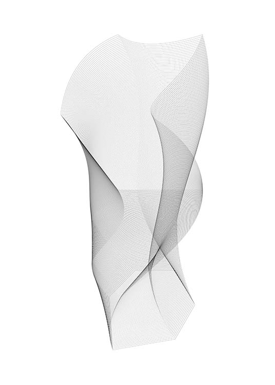 Sculpture Poster / Black & white at Desenio AB (11601)
