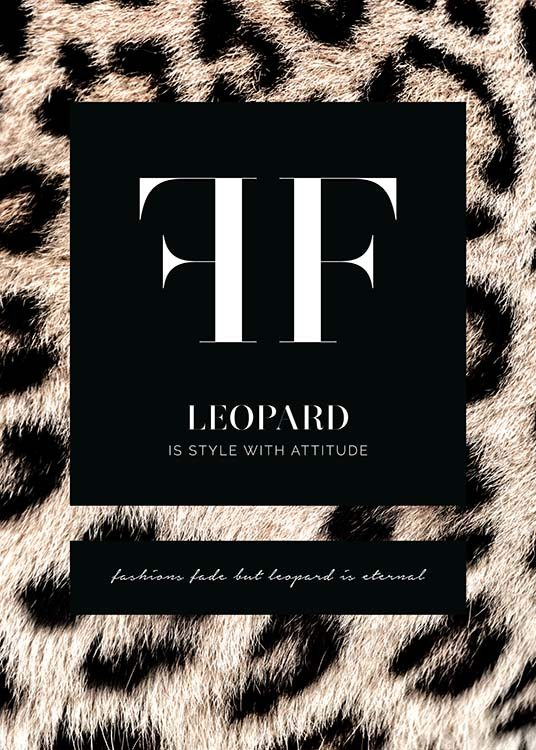 Leopard Fashion Poster / Text posters at Desenio AB (11619)