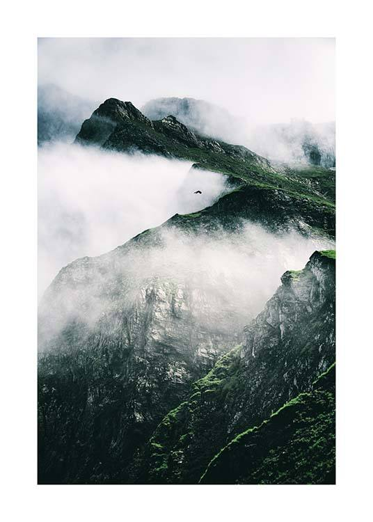 Rugged Misty Mountains Poster / Nature prints at Desenio AB (11632)