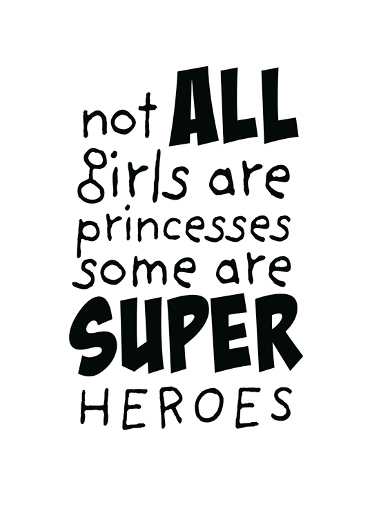 Girls are Superheroes Poster / Kids wall art at Desenio AB (11905)