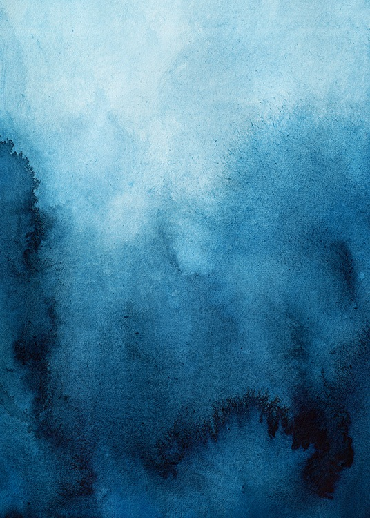 Blue Ombre Poster / Art prints at Desenio AB (11928)