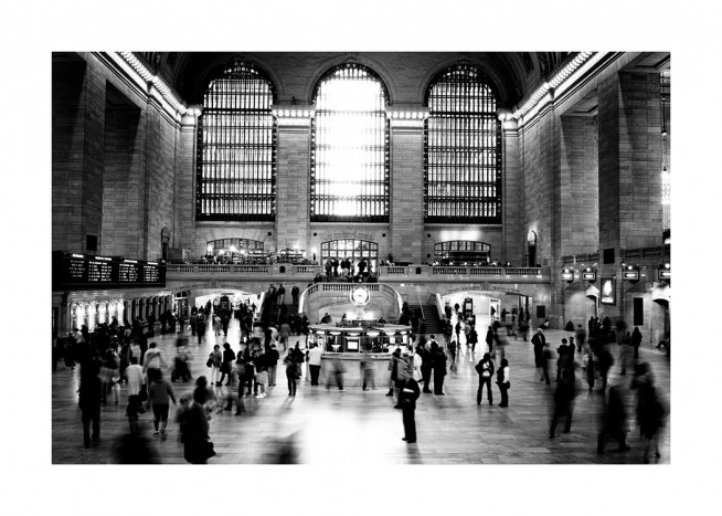 Grand Central Terminal NYC Poster / Black & white at Desenio AB (11953)