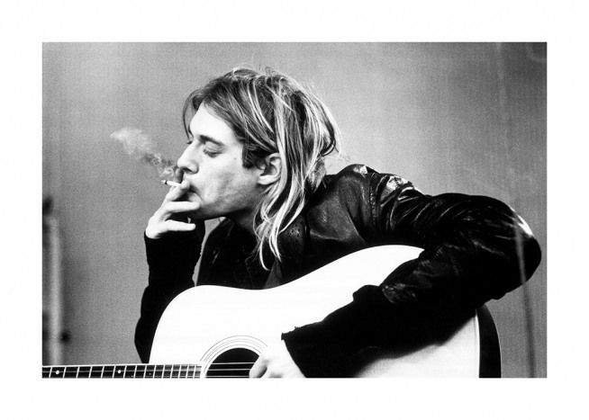 Kurt Cobain Poster / Black & white at Desenio AB (11966)